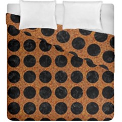 Circles1 Black Marble & Rusted Metal Duvet Cover Double Side (king Size) by trendistuff