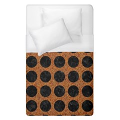 Circles1 Black Marble & Rusted Metal Duvet Cover (single Size) by trendistuff