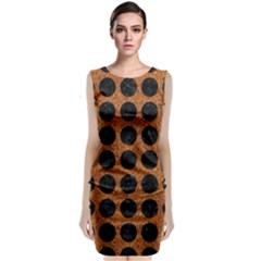 Circles1 Black Marble & Rusted Metal Classic Sleeveless Midi Dress by trendistuff