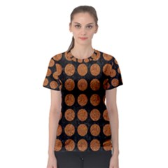 Circles1 Black Marble & Rusted Metal (r) Women s Sport Mesh Tee