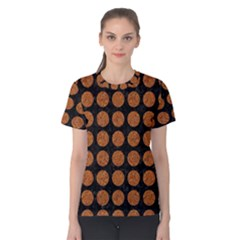 Circles1 Black Marble & Rusted Metal (r) Women s Cotton Tee by trendistuff