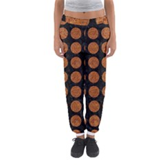 Circles1 Black Marble & Rusted Metal (r) Women s Jogger Sweatpants by trendistuff