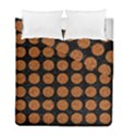 CIRCLES1 BLACK MARBLE & RUSTED METAL (R) Duvet Cover Double Side (Full/ Double Size) View1