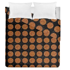 Circles1 Black Marble & Rusted Metal (r) Duvet Cover Double Side (queen Size)