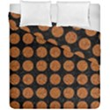 CIRCLES1 BLACK MARBLE & RUSTED METAL (R) Duvet Cover Double Side (California King Size) View1