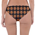 CIRCLES1 BLACK MARBLE & RUSTED METAL (R) Reversible Hipster Bikini Bottoms View2