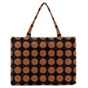 CIRCLES1 BLACK MARBLE & RUSTED METAL (R) Zipper Medium Tote Bag View1