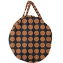 CIRCLES1 BLACK MARBLE & RUSTED METAL (R) Giant Round Zipper Tote View2