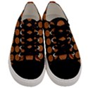 CIRCLES1 BLACK MARBLE & RUSTED METAL (R) Men s Low Top Canvas Sneakers View1