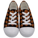 CIRCLES1 BLACK MARBLE & RUSTED METAL (R) Kids  Low Top Canvas Sneakers View1