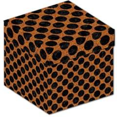 Circles2 Black Marble & Rusted Metal Storage Stool 12   by trendistuff