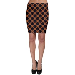 Circles2 Black Marble & Rusted Metal Bodycon Skirt by trendistuff