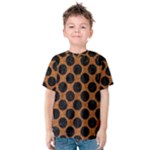 CIRCLES2 BLACK MARBLE & RUSTED METAL Kids  Cotton Tee