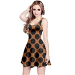 CIRCLES2 BLACK MARBLE & RUSTED METAL Reversible Sleeveless Dress