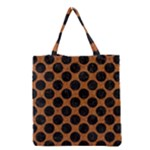 CIRCLES2 BLACK MARBLE & RUSTED METAL Grocery Tote Bag