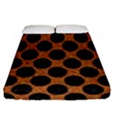 CIRCLES2 BLACK MARBLE & RUSTED METAL Fitted Sheet (Queen Size) View1