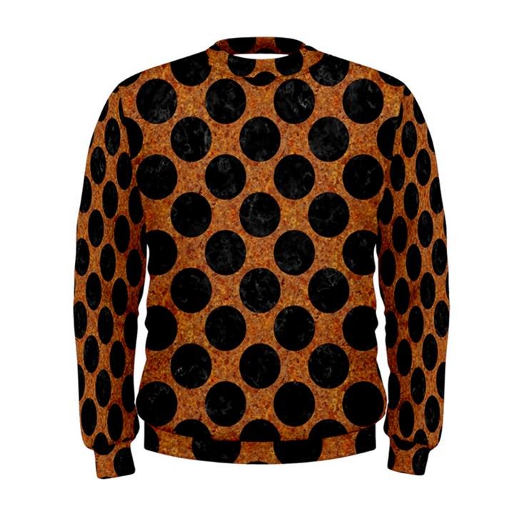 CIRCLES2 BLACK MARBLE & RUSTED METAL Men s Sweatshirt