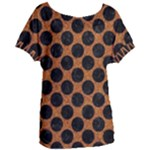 CIRCLES2 BLACK MARBLE & RUSTED METAL Women s Oversized Tee