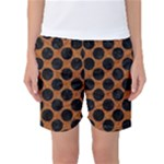 CIRCLES2 BLACK MARBLE & RUSTED METAL Women s Basketball Shorts