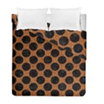 CIRCLES2 BLACK MARBLE & RUSTED METAL Duvet Cover Double Side (Full/ Double Size)