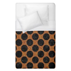 Circles2 Black Marble & Rusted Metal Duvet Cover (single Size) by trendistuff