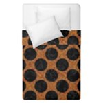 CIRCLES2 BLACK MARBLE & RUSTED METAL Duvet Cover Double Side (Single Size)