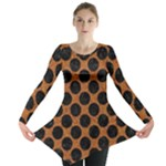 CIRCLES2 BLACK MARBLE & RUSTED METAL Long Sleeve Tunic