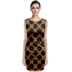 Circles2 Black Marble & Rusted Metal Classic Sleeveless Midi Dress by trendistuff