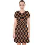 CIRCLES2 BLACK MARBLE & RUSTED METAL Adorable in Chiffon Dress