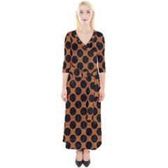 Circles2 Black Marble & Rusted Metal Quarter Sleeve Wrap Maxi Dress by trendistuff