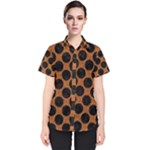 CIRCLES2 BLACK MARBLE & RUSTED METAL Women s Short Sleeve Shirt