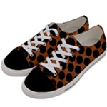 CIRCLES2 BLACK MARBLE & RUSTED METAL Women s Low Top Canvas Sneakers