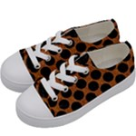 CIRCLES2 BLACK MARBLE & RUSTED METAL Kids  Low Top Canvas Sneakers