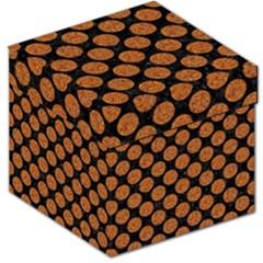 Circles2 Black Marble & Rusted Metal (r) Storage Stool 12   by trendistuff