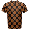 CIRCLES2 BLACK MARBLE & RUSTED METAL (R) Men s Cotton Tee View1