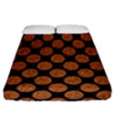 CIRCLES2 BLACK MARBLE & RUSTED METAL (R) Fitted Sheet (California King Size) View1