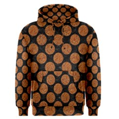 Circles2 Black Marble & Rusted Metal (r) Men s Pullover Hoodie