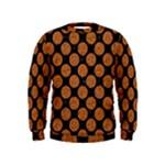 CIRCLES2 BLACK MARBLE & RUSTED METAL (R) Kids  Sweatshirt