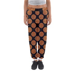 Circles2 Black Marble & Rusted Metal (r) Women s Jogger Sweatpants