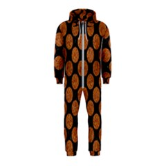 Circles2 Black Marble & Rusted Metal (r) Hooded Jumpsuit (kids)