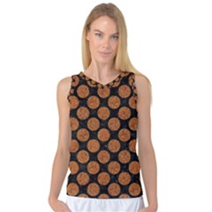 Circles2 Black Marble & Rusted Metal (r) Women s Basketball Tank Top