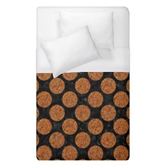 Circles2 Black Marble & Rusted Metal (r) Duvet Cover (single Size) by trendistuff