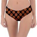 CIRCLES2 BLACK MARBLE & RUSTED METAL (R) Reversible Classic Bikini Bottoms View1