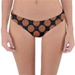 CIRCLES2 BLACK MARBLE & RUSTED METAL (R) Reversible Hipster Bikini Bottoms