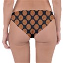 CIRCLES2 BLACK MARBLE & RUSTED METAL (R) Reversible Hipster Bikini Bottoms View2