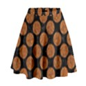 CIRCLES2 BLACK MARBLE & RUSTED METAL (R) High Waist Skirt View1