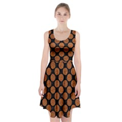 Circles2 Black Marble & Rusted Metal (r) Racerback Midi Dress