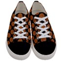 CIRCLES2 BLACK MARBLE & RUSTED METAL (R) Women s Low Top Canvas Sneakers View1