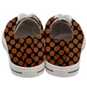 CIRCLES2 BLACK MARBLE & RUSTED METAL (R) Women s Low Top Canvas Sneakers View4