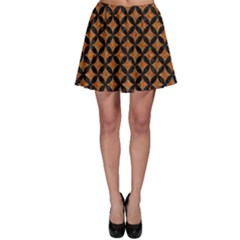 Circles3 Black Marble & Rusted Metal Skater Skirt